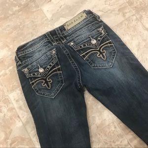 Rock Revival Jen Embellished Bootcut Jeans 29 34.5